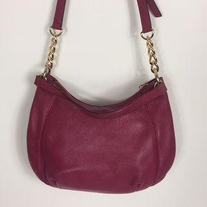 Michael Kors Bags - Michael Kors Cranberry Leather Crossbody Purse
